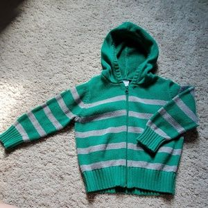 3T striped sweater hoodie
